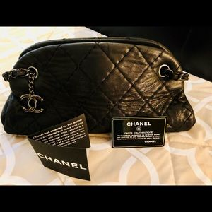 Genuine CHANEL mademoiselle bowler purse